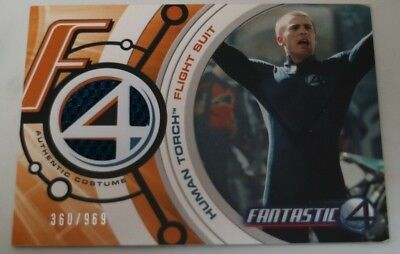 The Human Torch Costume (Marvel Fantastic Four The Human Torch Johnny Storm Costume Card Chris)