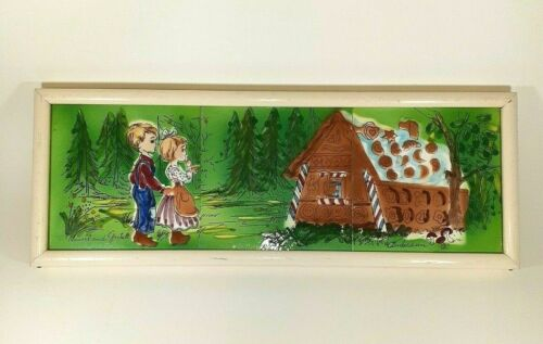 Cottage Core Hansel And Gretel Framed Hand Painted Tiles