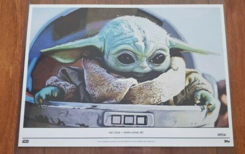 Topps Star Wars Living Set Fine Art 10x14 Print The Child Mandalorian Baby Yoda