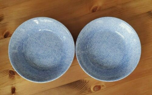 """Set of 2 Denim Light by RALPH LAUREN CHINA Coupe Cereal Soup Bowls 7"""""""