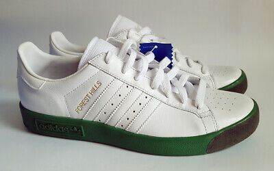 Adidas Originals. Forest Hills. 2005. UK 8. White & Green. BNWT.