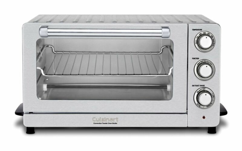 Cuisinart 0.6 Cu. Ft. Convection Toaster Oven Silver Tob-60