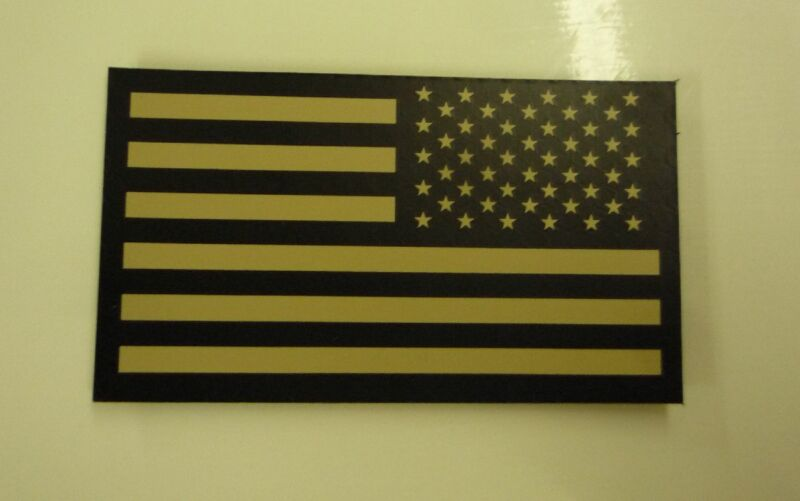 "NO LOGO REVERSE USA TAN IR FLAG solasX 2ND 3.5""X2"" WITH VELCRO® BRAND FASTENER"
