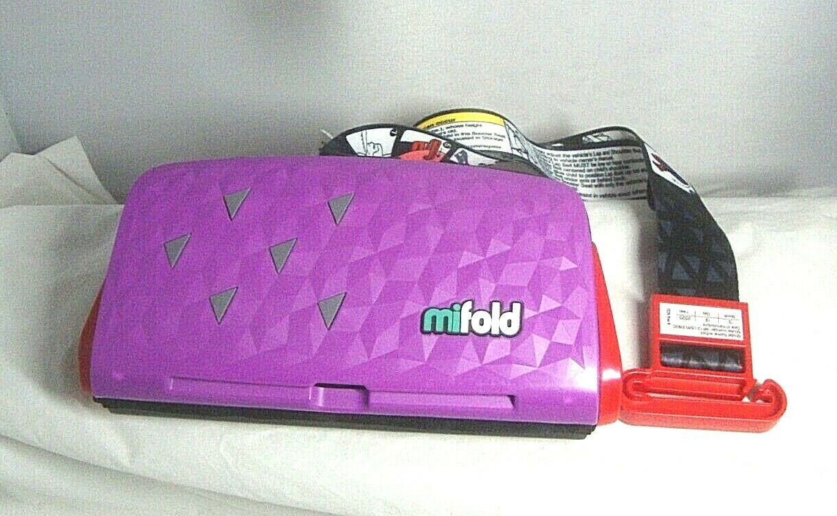 Mifold Comfort Grab-and-go Car Booster Seat- Royal Purple
