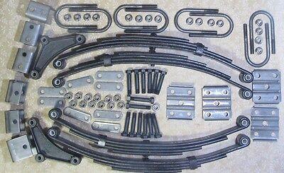 Trailer leaf spring and hanger kit for 7k 7,000 lb tandem (4) 1750 lb -