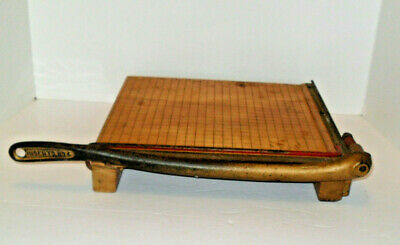 Vintage 1950s Ingento No 4 Wooden Paper Cutter Photo Trimmer Good Condition