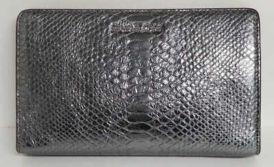 Michael Kors Pewter Embossed Leather Large Crossbody Clutch
