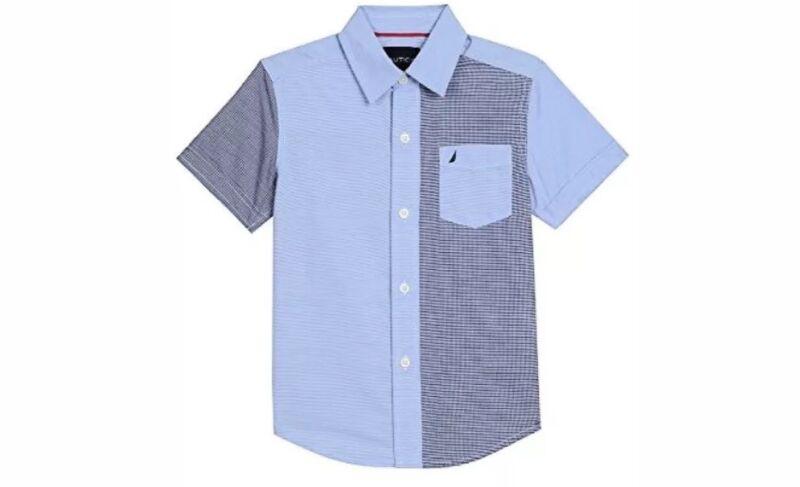 Nautica Childrens Apparel Big Boys Short Sleeve Retro Blue Size L(14/16)