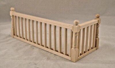 "RAILING KIT #2 Stairs  dollhouse balcony guard 12""  1/12 scale miniature MW12082"