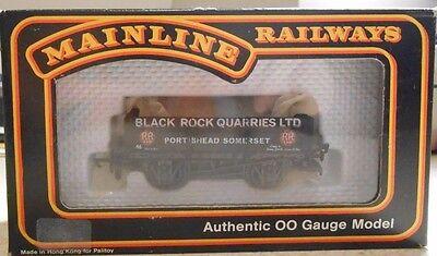MAINLINE RAILWAYS OO SCALE BLACK ROCK QUARRIES LTD. 5 PLANK WAGON--NIB