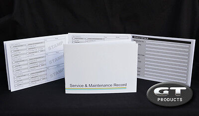 VEHICLE SERVICE HISTORY BOOK & MAINTENANCE RECORD LOG