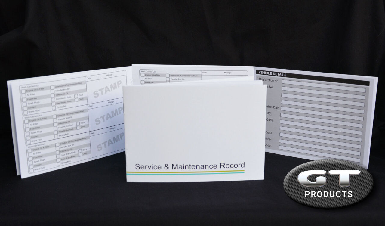 Toyota Service History Book Amp Maintenance Record Log Ebay