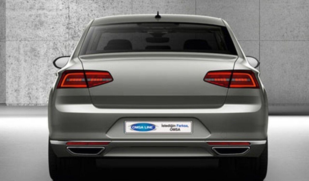 FIT FOR VW Passat B8 Rear R-Line Exhaust Frame 2 Pcs S.Steel 2015>