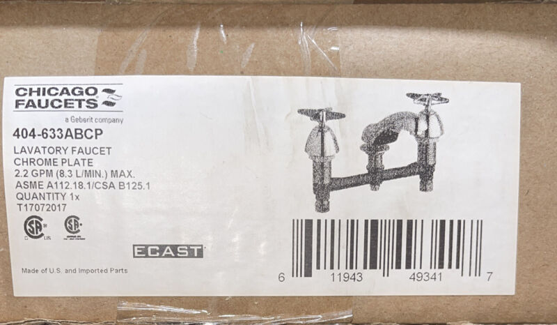 CHICAGO FAUCETS 404-ABCP Low Arc,Chrome,Chicago Faucets,404