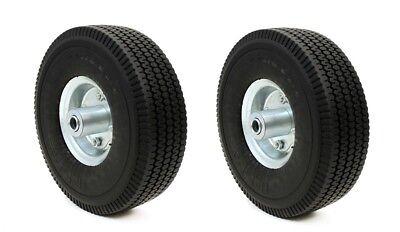 "2 PACK 10"" Flat Free Tubless Tire Wheel 4 Hand Truck Dolly Go Kart Wagon FOAM"