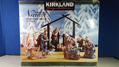 Kirkland Porcelain 14 Piece Nativity Set