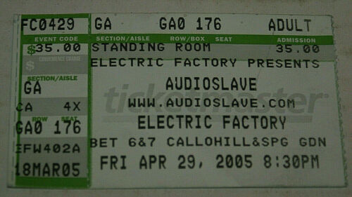 Audioslave W/ Chris Cornell Of Soundgarden Electric Factory April 29 2005 Rare
