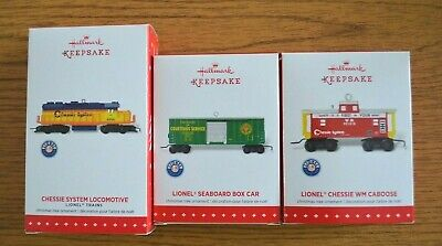 "2015 Three-piece Set ""Chessie System"" Hallmark Keepsake Lionel Trains NIB"
