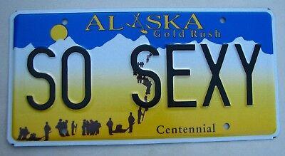 "ALASKA VANITY LICENSE PLATE "" SO SEXY "" HOT NICE BEAUTIFUL BABY"