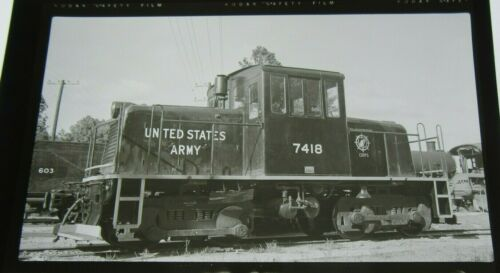 Vintage B&W RR Photo Positive USA United States Army 7418 from Negative 4C20