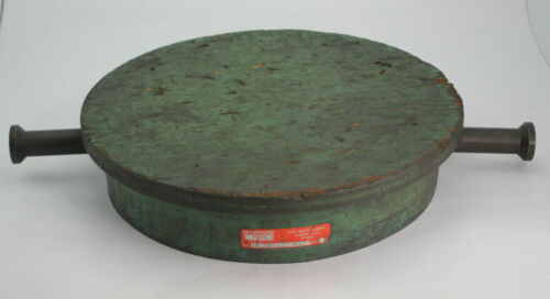 """Monarch Tools 12.5"""" Round Machinist Lapping Plate Cast Iron Used"""