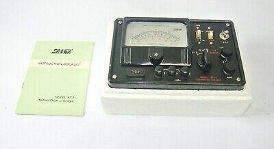 Vintage Sanwa Multitester Multimeter Model At-1 W User Manual - Exc. Cond
