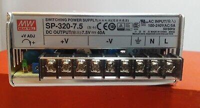 Mean Well Sp-320-7.5 Power Supply Single Output 7.5 Volt 40 Amp