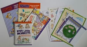 Five Little Monkeys Jump into Learning Book Set Children Ages 4-7 NEW No Box