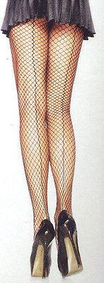 Leg Ave 9076 Women Pantyhose Industrial Fishnet Back Seams Nylon Lycra Reg - Halloween Industry