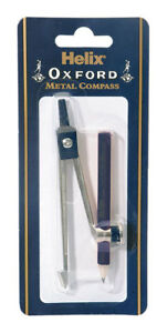 Helix Oxford Traditonal Metal Compass Pencil Safety Point Maths Geometry School