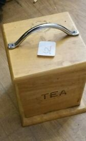 Wood Tea Caddy