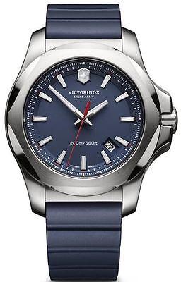 New Victorinox Swiss Army I.N.O.X. Steel & Rubber Men's Watch 241688.1