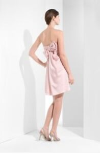 Robe pink blush BCBG strapless dress with bow back