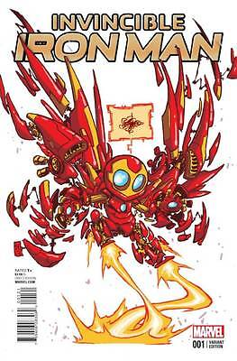 Invincible Iron Man #1 Marvel Comics 2015 Skottie Young Baby Variant Cover NM - Iron Man Baby