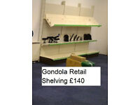 Retail display shelves, gondola shelves, needs to be gone urgently, give best offer