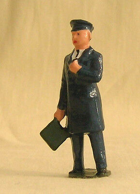 Train Guard green flag, Signalman, platform layout figure, Reproduction Johillco