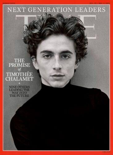 TIMOTHEE CHALAMET - Time Magazine - October 2021 November 2021 - NEW - NO LABEL