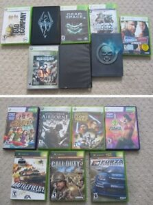 X-Box 360 and X-Box Games - Some With Steelcase