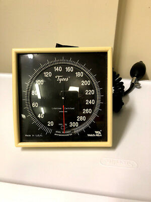 Old Welch Allyn 767 Wall Aneroid Sphygmomanometer W Reusable Cuff