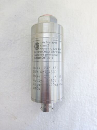 New Druck PTX-661 Pressure Transmitter 500 PSI PTX661