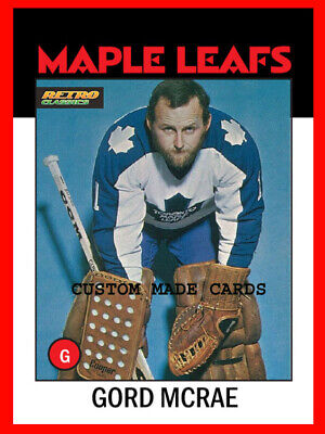 New Release! GORD McRAE Retro Classics CUSTOM MADE Hockey Card Maple Leafs MINT