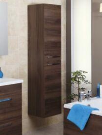 Bathroom wall hunt tall storage unit, Pacific walnut NEW