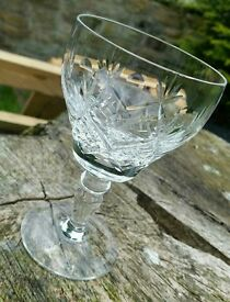 Royal Brierley Crystal Wine Glasses Set of 6