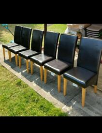 Dinning chairs leather 6pcs, RRP £200