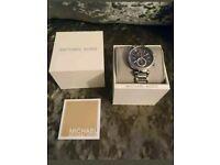 Michael Kors Sawyer Watch. Silver, Blue, Rose Gold. ORIGINALLY £230