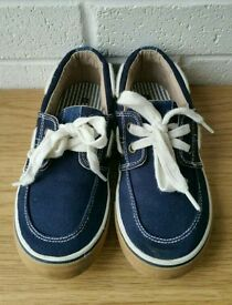 Size 13 Navy Boat shoes