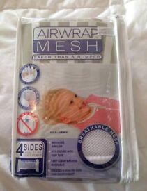 Airwrap Mesh Cot Breathable Bumper Wrap White Baby