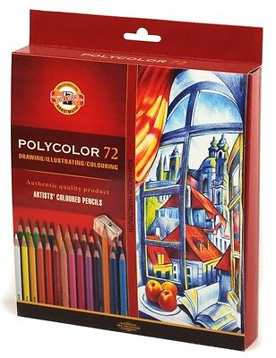 High Quality Coloured PENCIL Set 72 Crayons KOH-I-NOOR POLYCOLOR 3837 For Artist - Pencil Crayons
