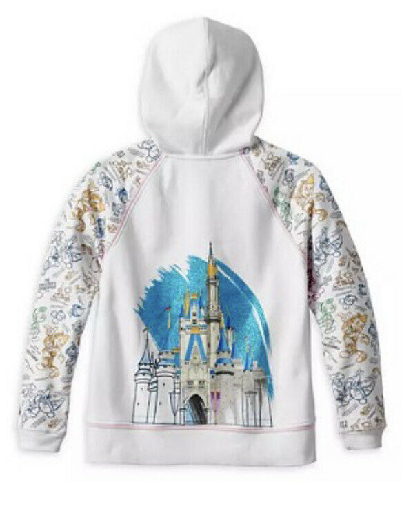 NEW Disney Parks Ink and Paint Zip Hoodie for Women Size LARGE