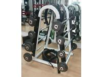 Barbell set and rack
